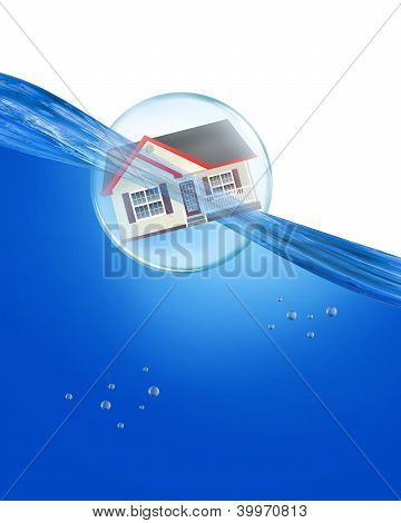 Home in a Bubble.