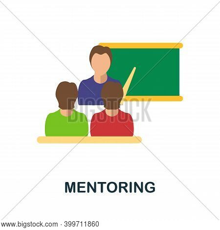 Mentoring Flat Icon. Color Simple Element From Volunteering Collection. Creative Mentoring Icon For