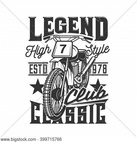 Motorcycle Races Club, Motorbike Speedway Bike And Motor Sport Riders Vector Icon. Motorcycle Racing