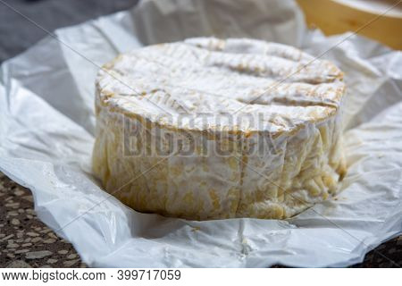 Cheese Collection, French Soft Camembert Of Normandy Cheese Made From Cow Milk In Region Normandy, F