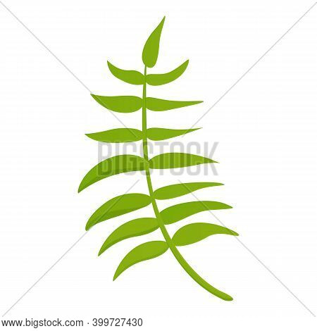 Garland Hibiscus Tropical Leaf Icon. Cartoon Of Garland Hibiscus Tropical Leaf Vector Icon For Web D