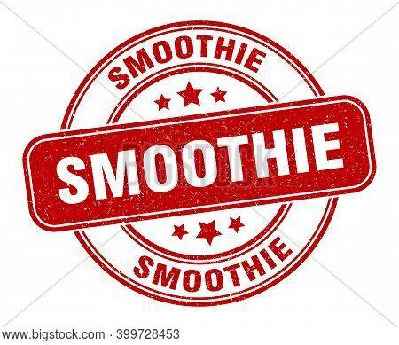 Smoothie Stamp. Smoothie Label. Round Grunge Sign