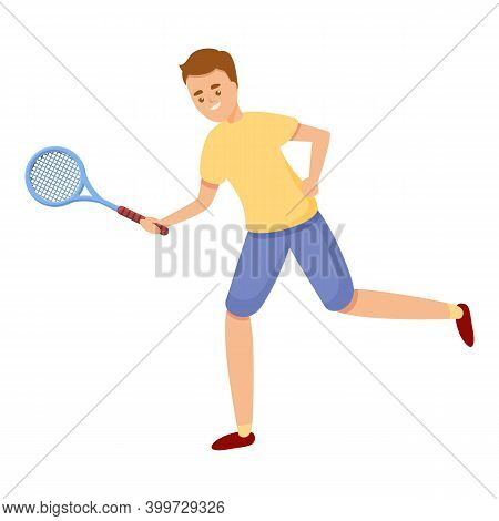 Blow With Tennis Racket Icon. Cartoon Of Blow With Tennis Racket Vector Icon For Web Design Isolated