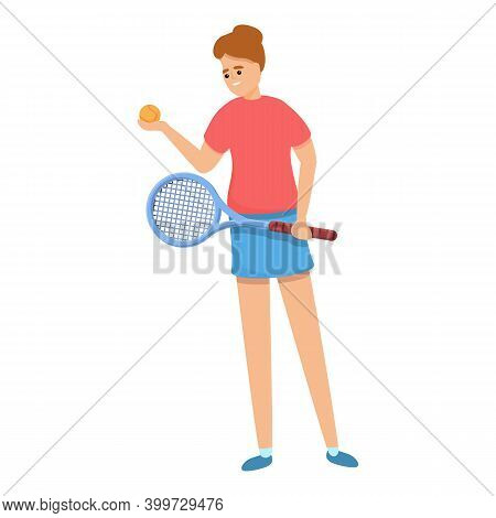 Tennis Championship Icon. Cartoon Of Tennis Championship Vector Icon For Web Design Isolated On Whit