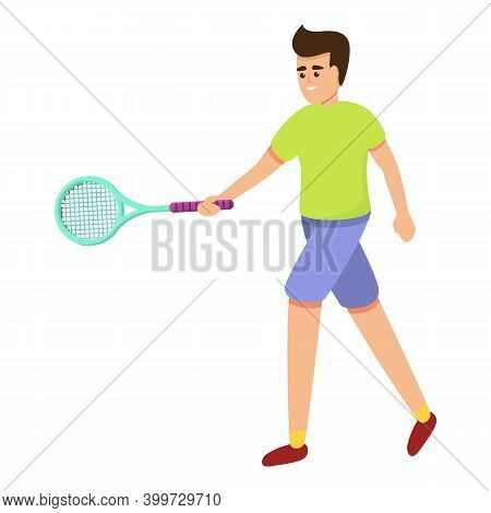 Mens Tennis Icon. Cartoon Of Mens Tennis Vector Icon For Web Design Isolated On White Background