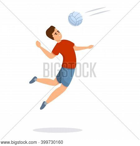 Volleyball Competition Icon. Cartoon Of Volleyball Competition Vector Icon For Web Design Isolated O