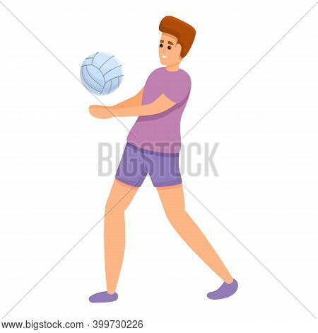Volleyball Tournament Icon. Cartoon Of Volleyball Tournament Vector Icon For Web Design Isolated On