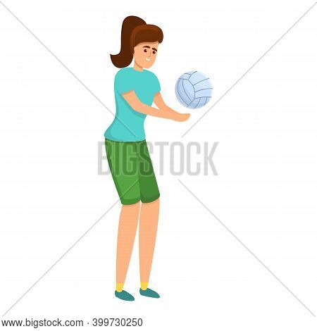 Volleyball Instructor Icon. Cartoon Of Volleyball Instructor Vector Icon For Web Design Isolated On