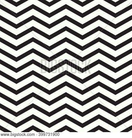 Black And White Geometric Zigzag Seamless Pattern. Zigzag Pattern Vector Design