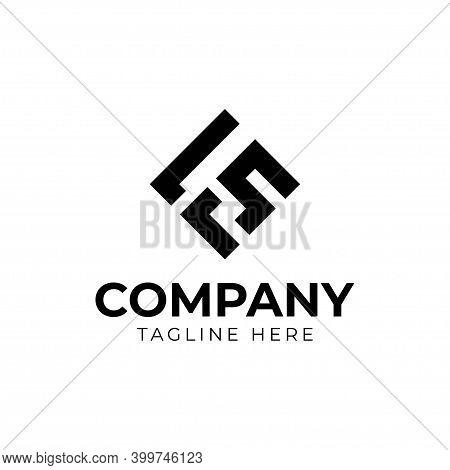Letter F S Logo Design. Creative Minimal Monochrome Monogram Symbol. Universal Elegant Vector Emblem