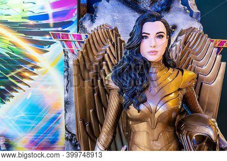 Bangkok, Thailand - Dec 13, 2020: Model Of Wonder Woman (from The Movie Wonder Woman 1984 ) Displays
