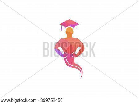 Genie Hat Concept Logo Design. Magic Fantasy Genie Concept Logo.