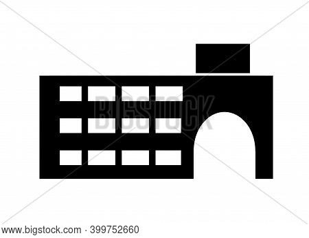 Icon Of Real Estate Commercial, Residential And Industrial Black