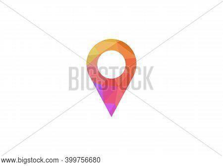 Location Icon. Flat Location Icon Design Vector