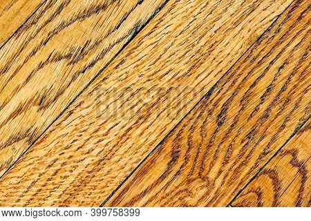 Antique Parquet Floor. Natural Oak Tree Texture. Wooden Background With Organic Pattern Vintage Plan