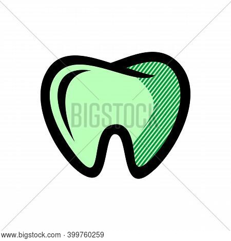 Tooth Icon Isolated On White Background From Anatomy Collection. Tooth Icon Trendy And Modern Tooth