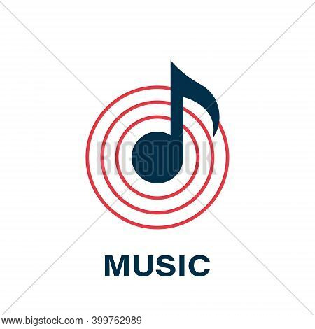 Vector Music Icons. Music Notes Icon. Concept Logo. Trendy Design. Vector Illustration