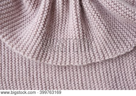 Texture Of Knitted Fabric. Stranded Threads. Cloth Of Warm Winter Clothes