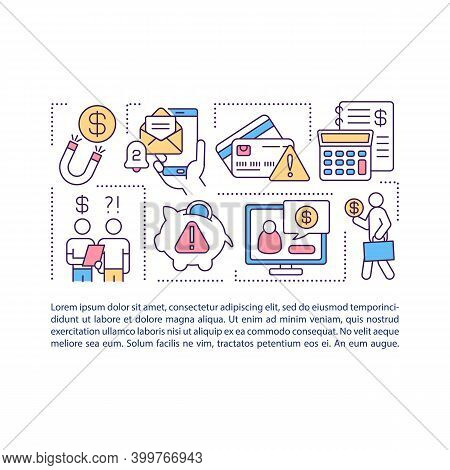 Debt Collection Concept Icon With Text. Collecting Overdue Debts. Money Recovery On Delinquent Accou