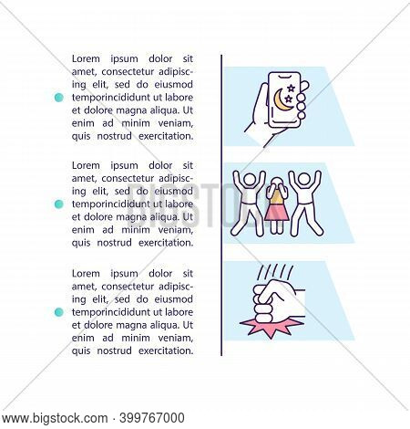Debt Collector Violations Concept Icon With Text. Protection From Harassment. Unconscionable Conduct