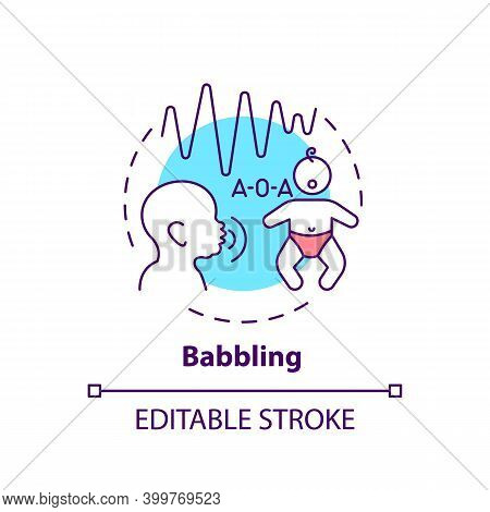 Babbling Concept Icon. Early Speech. Baby Talking. Toddler Make Sound. Childhood Development Idea Th