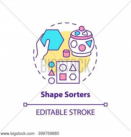 Shape Sorters Concept Icon. Puzzle For Little Kid. Baby Toy. Intellectual Skills. Early Childhood De