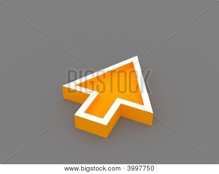 3D Orange Arrow