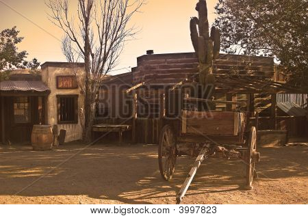Pioneer Town In Sepia