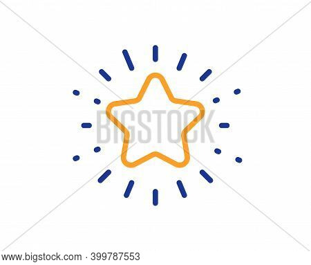Twinkle Star Line Icon. Best Ranking Sign. Favorite Symbol. Quality Design Element. Line Style Twink