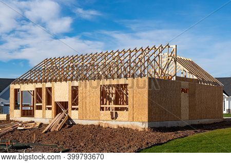 Rafters A New Plywood House Roof Frame Development Wall
