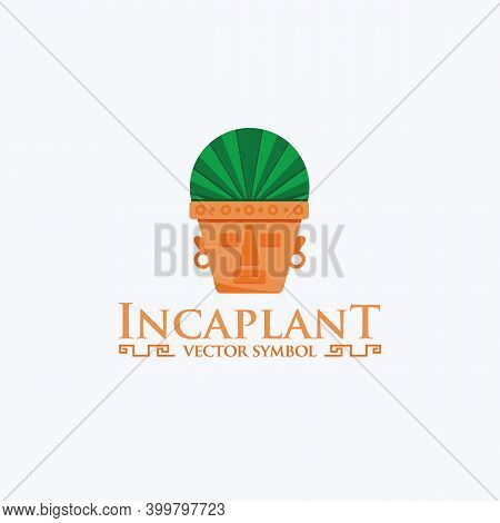 Incas Logo Template. Tree Services Illustration For Your Company. Maya Vector Element For Your Desig