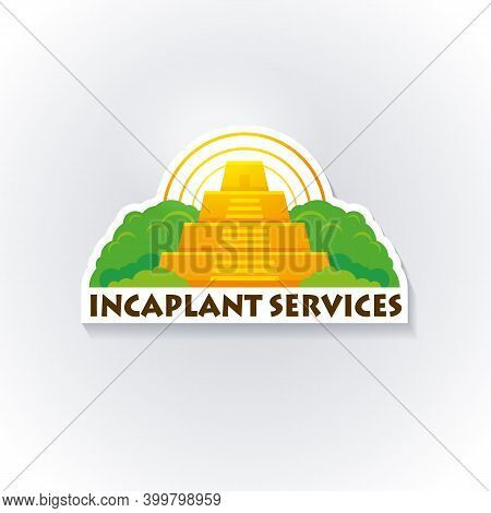 Incas Logo Template. Inca Logo. Tree Services Illustration For Your Company. Maya Vector Element For