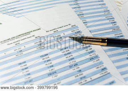Financial Budget Statement, Numbers For Analysis Invest Stock