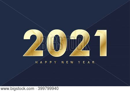 2021 Happy New Year. Merry Christmas And Happy New Year 2021 Greeting Card. Celebrate Party Template