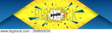 Boom Sale Sticker. Abstract Background With Offer Message. Discount Banner Shape. Coupon Bubble Icon