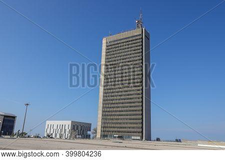 Tel Aviv, Israel: November 23, 2020: University Of Haifa Exterior Building.