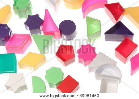 Different Geometric Shapes Background Triangle Diamond Circle