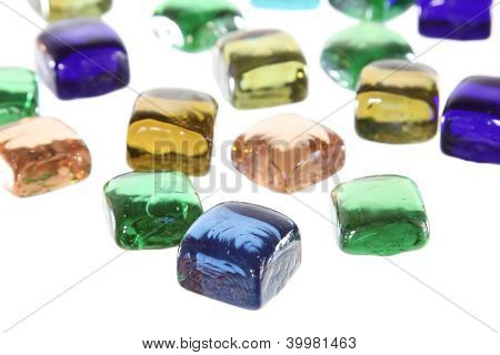 Differet Color Gem Pattern Background