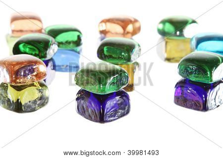 Gem Garden Background Pattern Of Stones