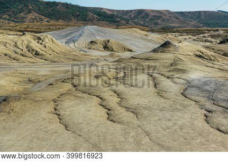 Mud Volcanoes Natural Phenomenon Captured In Romania