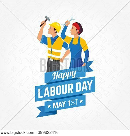 Happy International Labour Day Vector Illustration