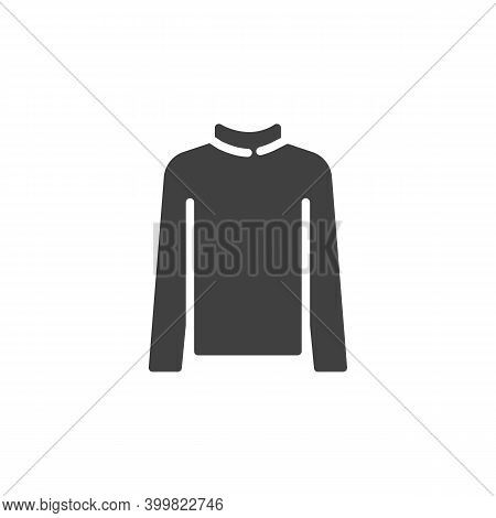 Turtleneck Sweater Vector Icon. Filled Flat Sign For Mobile Concept And Web Design. Women Turtleneck