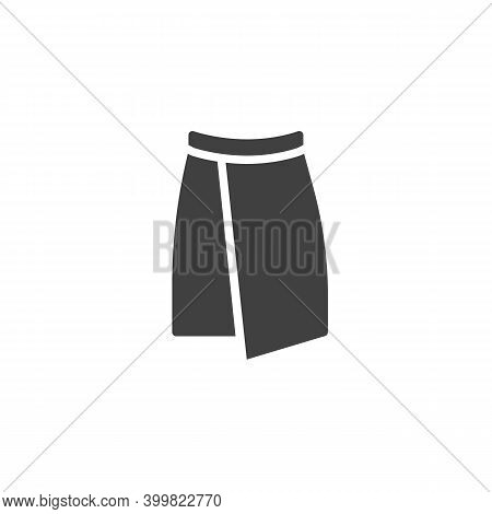 Wrap Skirt Vector Icon. Filled Flat Sign For Mobile Concept And Web Design. Skirt Front View Glyph I