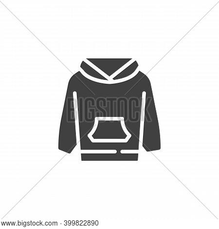Hoodie Sweatshirt Vector Icon. Filled Flat Sign For Mobile Concept And Web Design. Long Sleeve Hoodi