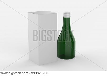 Mock Up For Design Of Packing Cosmetics, Pharmaceutical, Or Container For  Pills, Capsules Or Syrup.