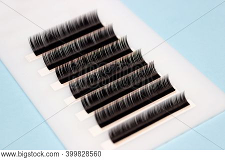 Tweezers Remove Lashes From The Artificial Lash Tape. The Work Of A Lashmaker.