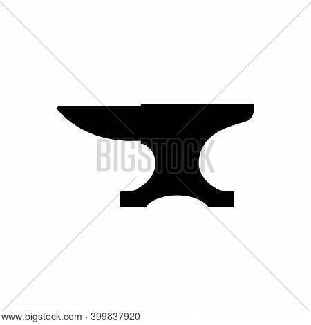 Anvil For Blacksmith Illustration Symbol Vector. Vintage Anvil Blacksmith Crafting Vector Icon
