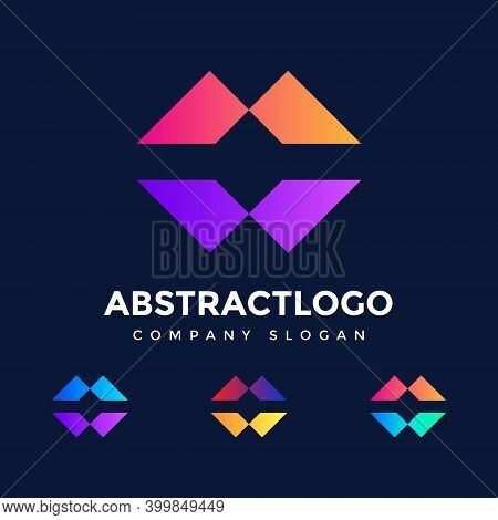 Initial Letter M Logo Design - M Letter Logo - Technology Company Concept And Idea M Logo - Data Vec