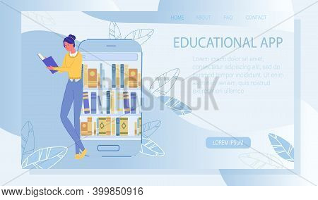 Online Course, Distance Education. Educational App. Access To Electronic Library Resource. Digital T