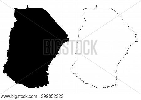 Cannon County, State Of Tennessee (u.s. County, United States Of America, Usa, U.s., Us) Map Vector